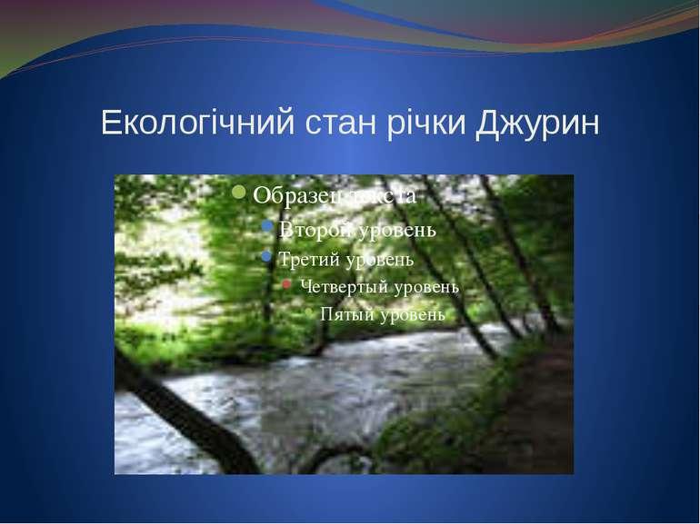 Екологічний стан річки Джурин