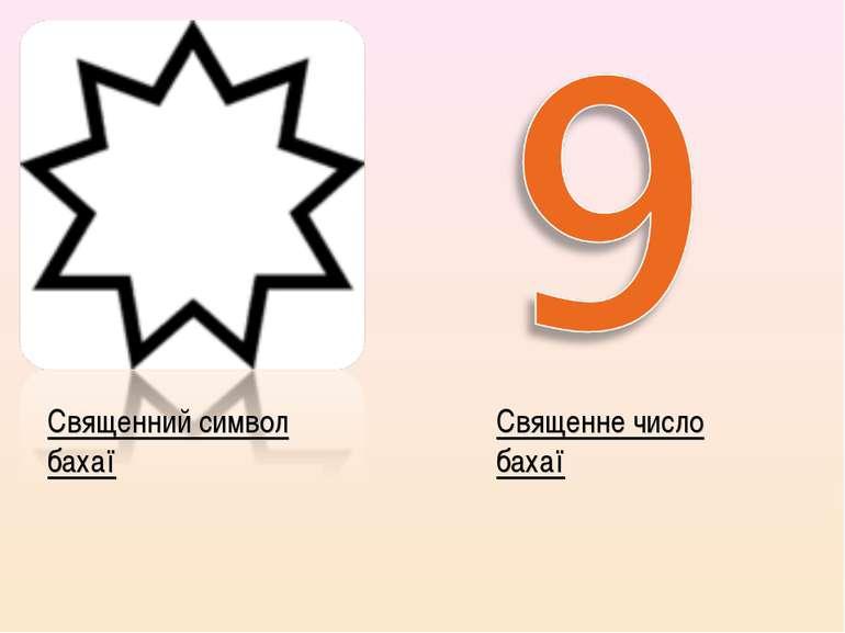Священний символ бахаї Священне число бахаї