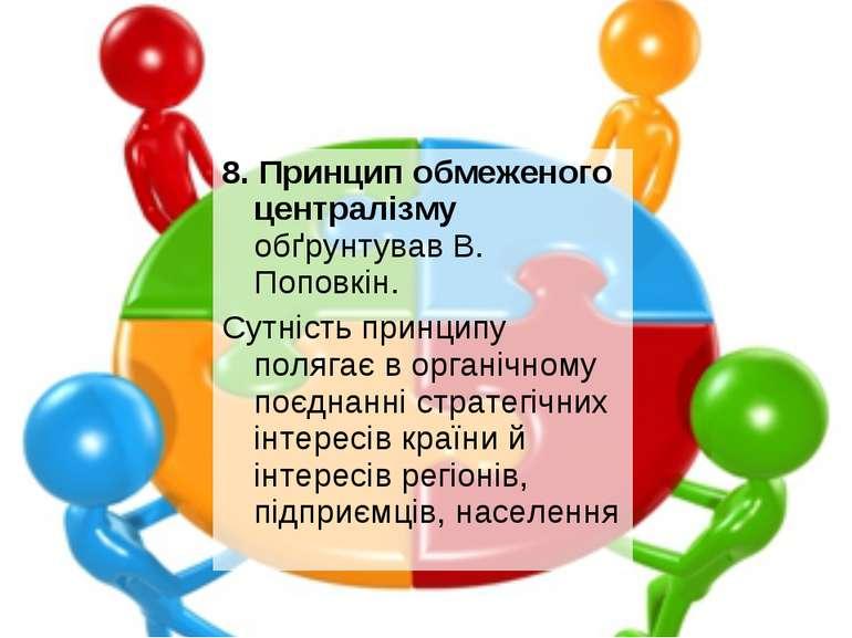 8. Принцип обмеженого централізму обґрунтував В. Поповкін. Сутність принципу ...