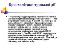 Бронхолітики тривалої дії Тіотропія бромід (Спірива) є високоселективним анти...