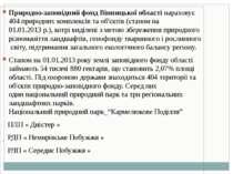 Природно-заповідний фонд Вінницької областінараховує 404 природних комплексі...