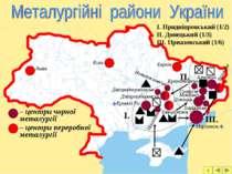 – центри чорної металургії – центри переробної металургії Кривий Ріг Дніпродз...