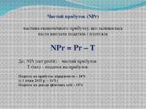 Чистий прибуток (NPr) частина економічного прибутку, що залишилась після випл...