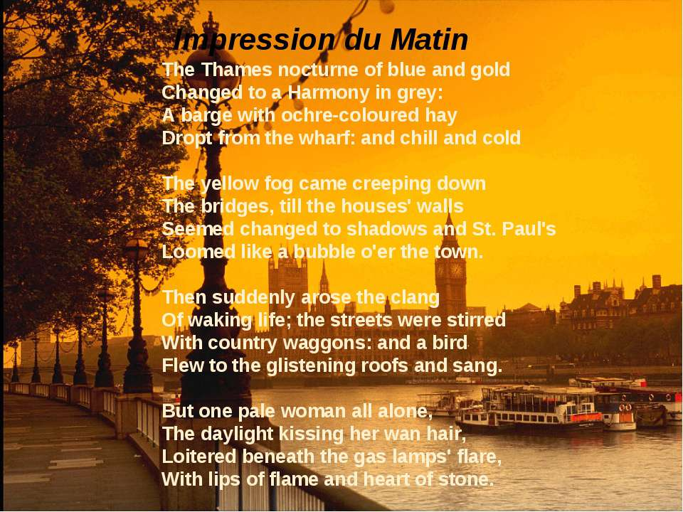 The Thames nocturne of blue and gold Changed to a Harmony in grey: A barge wi...