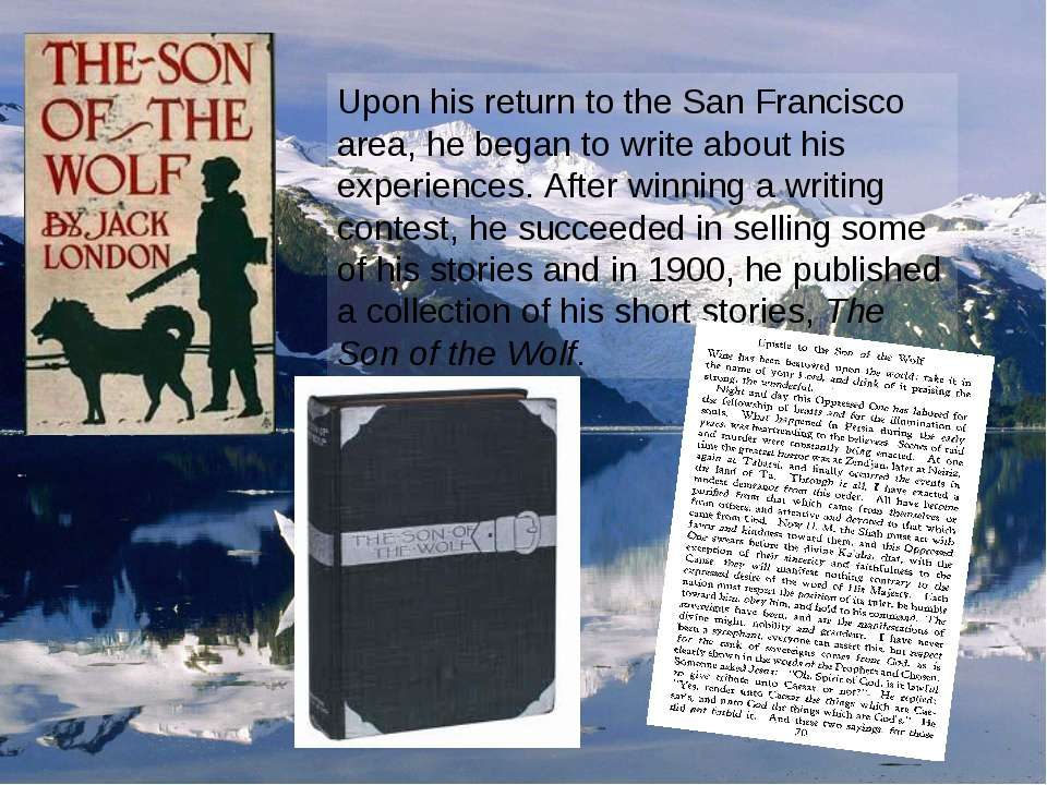 Upon his return to the San Francisco area, he began to write about his experi...