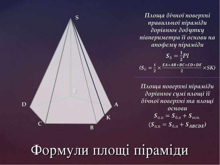 Формули площі піраміди