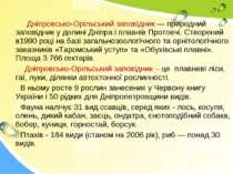 Дніпровсько-Орільський заповідник — природний заповідник у долині Дніпра і пл...