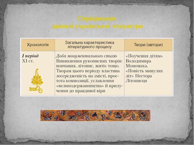 Періодизація давньої української літератури