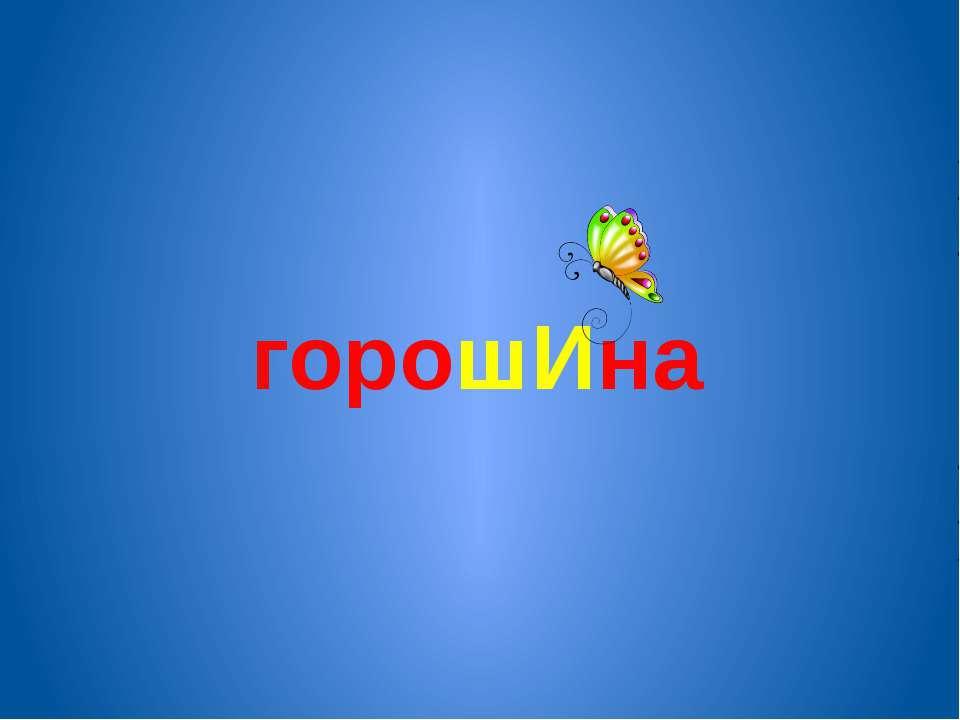 горошИна
