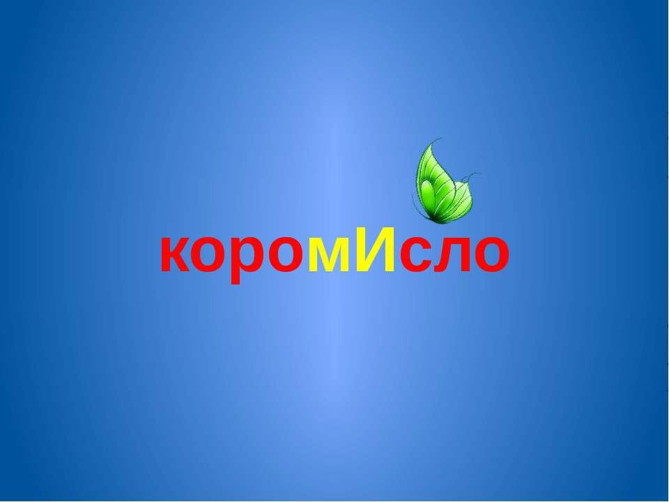 коромИсло