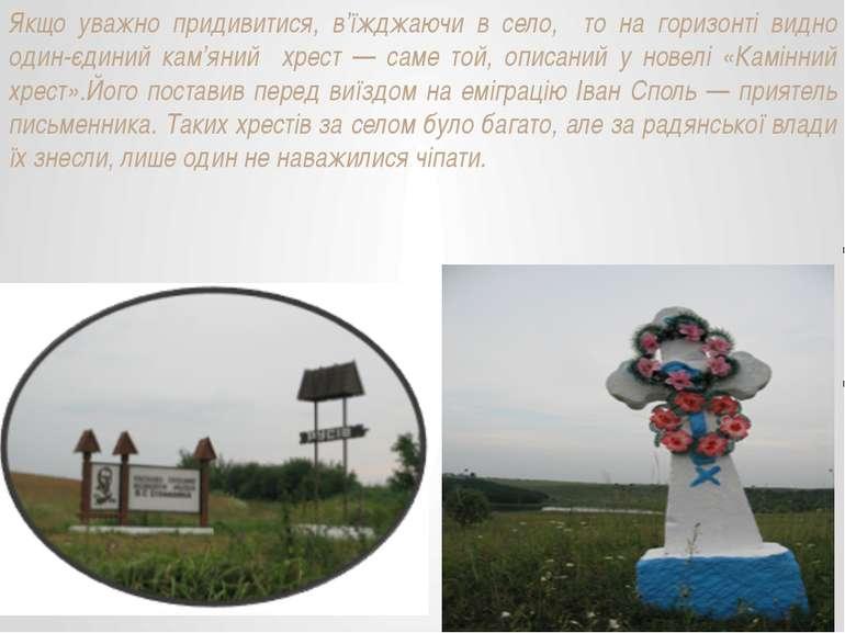 Якщо уважно придивитися, в'їжджаючи в село, то на горизонті видно один-єдиний...