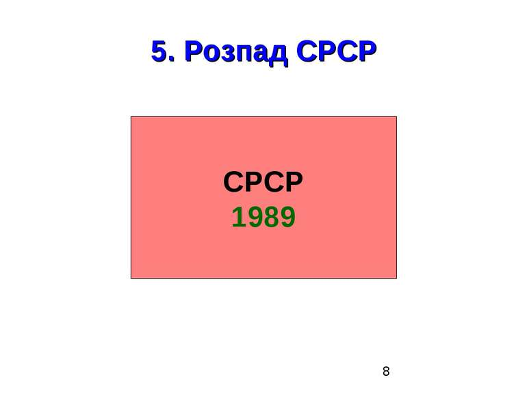 5. Розпад СРСР СРСР 1989