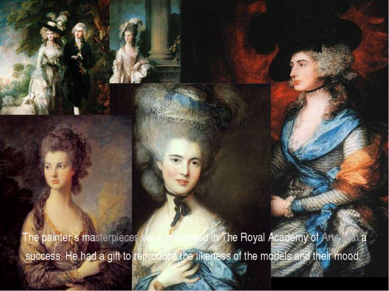 The painter`s masterpieces were presented in The Royal Academy of Arts with a...