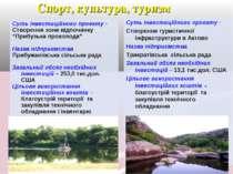 Спорт, культура, туризм Суть інвестиційного проекту - Створення зони відпочин...