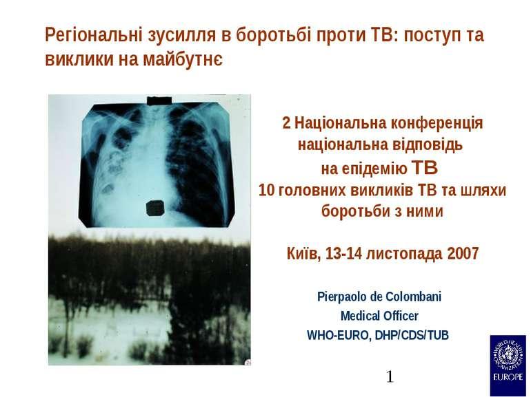 Регіональні зусилля в боротьбі проти TB: поступ та виклики на майбутнє Pierpa...