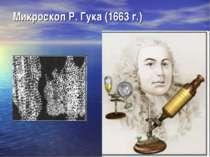 Микроскоп Р. Гука (1663г.)