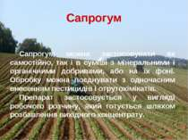 Сапрогум можна застосовувати як самостійно, так і в суміші з мінеральними і о...