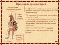 Організація грецької армії В Афінах 18-ти річні юнаки повинні були пройти дво...
