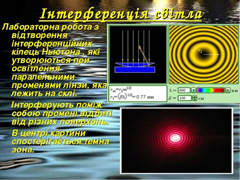 Інтерференція світла Лабораторна робота з відтворення інтерференційних кілець...