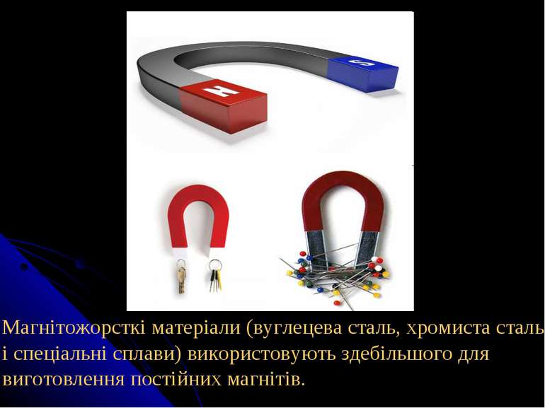 Магнітожорсткі матеріали (вуглецева сталь, хромиста сталь і спеціальні сплави...