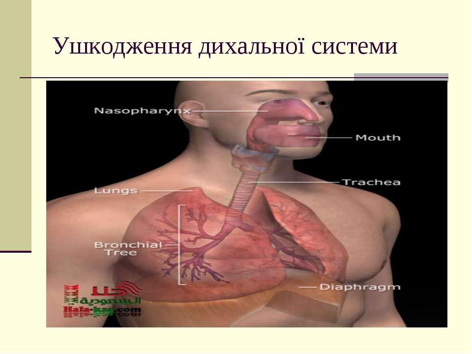 Ушкодження дихальної системи