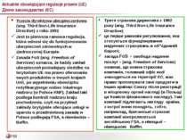 Aktualnie obowiązujące regulacje prawne (UE) Діюче законодавство (ЄС) Trzecia...