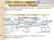 Lack or weakness of market infrastructure – wholesale markets of agricultural...