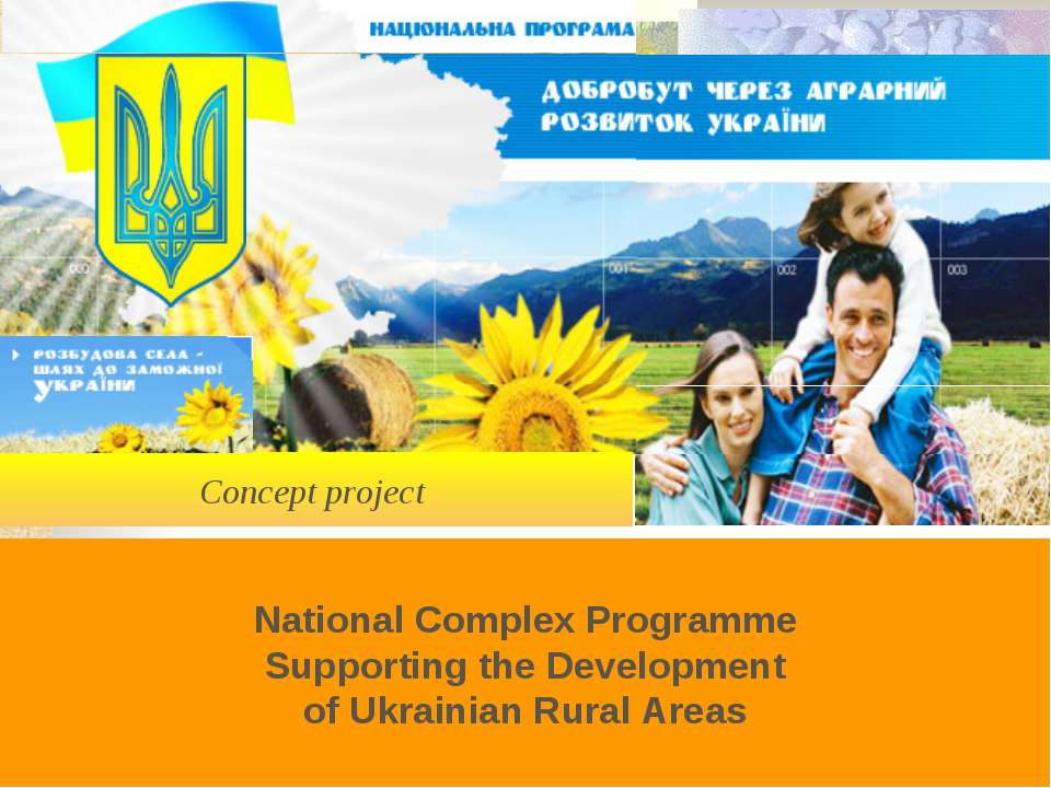 Concept project National Complex Programme Supporting the Development of Ukra...