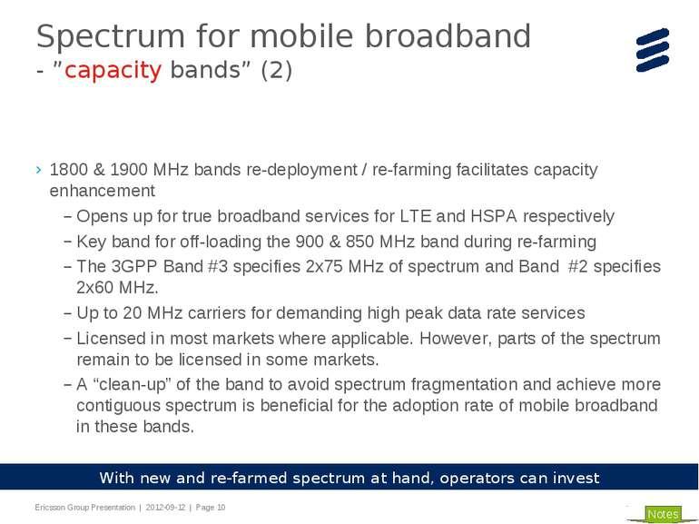 1800 & 1900 MHz bands re-deployment / re-farming facilitates capacity enhance...