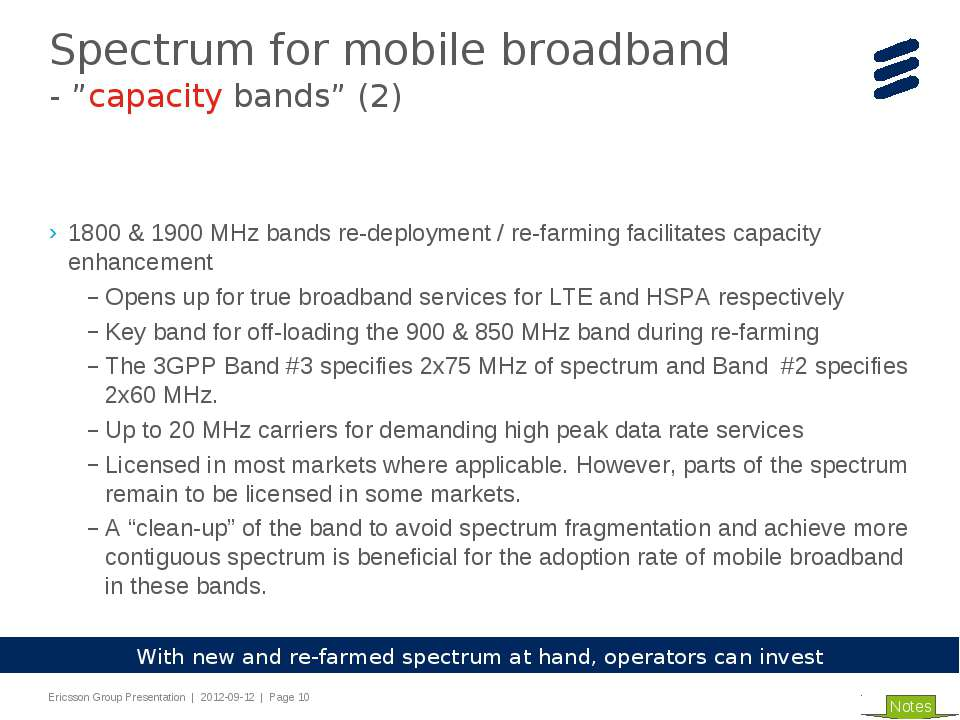 1800 & 1900 MHz bands re-deployment / re-farming facilitates capacity enhance...