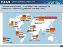 Регіони походження і цільові регіони стипендіатів Німецької служби академічни...