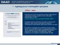 Індивідуальні стипендійні програми Antragsformular «Online» - заява В цьому р...