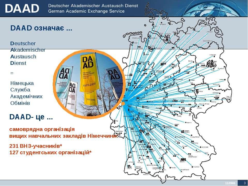 самоврядна організація вищих навчальних закладів Німеччини: 231 ВНЗ-учасників...