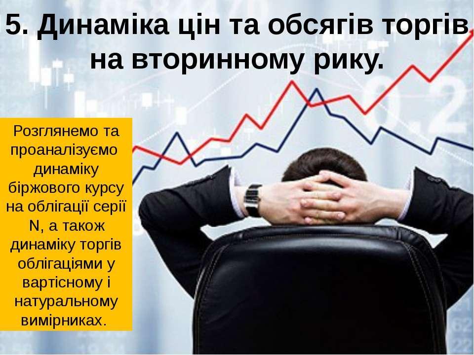 5. Динаміка цін та обсягів торгів на вторинному рику. Розглянемо та проаналіз...