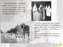 In response to reconstruction, the Ku Klux Klan emerged around the late 1860s...