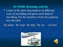 b) While-listening activity Listen to the short descriptions of different way...