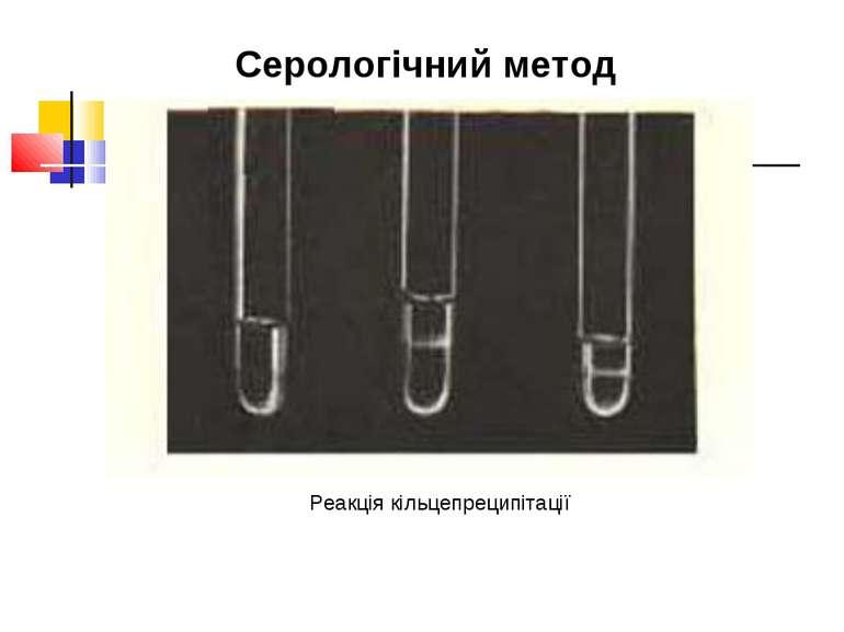 Реакція кільцепреципітації Серологічний метод