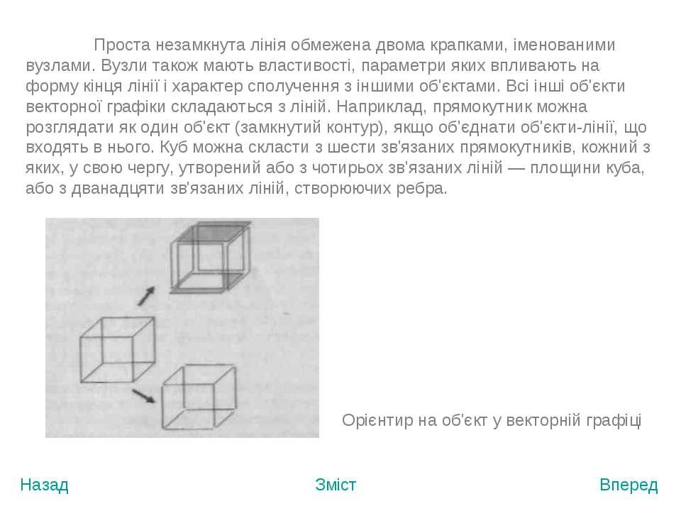 Назад Зміст Вперед Проста незамкнута лінія обмежена двома крапками, іменовани...