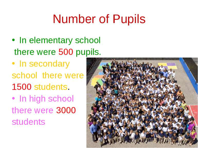 Number of Pupils In elementary school there were 500 pupils. In secondary sch...