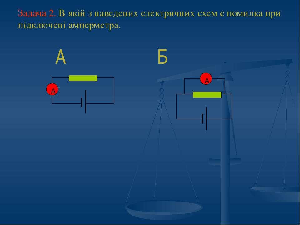 Задача 2. В якій з наведених електричних схем є помилка при підключені амперм...
