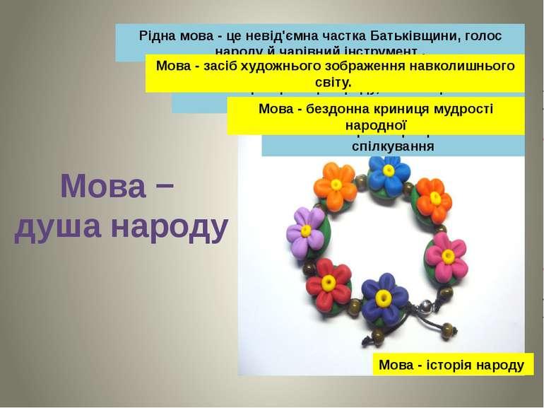 Рідна мова - це невід'ємна частка Батьківщини, голос народу й чарівний інстру...