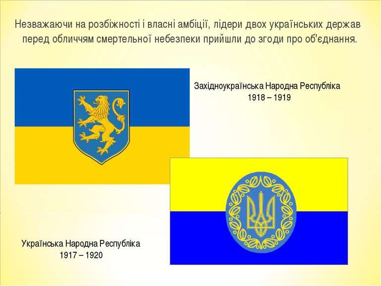 Незважаючи на розбіжності і власні амбіції, лідери двох українських держав пе...