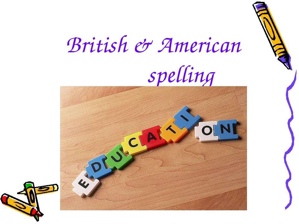 British & American spelling