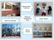 Виховне середовище учня Народознавчий куточок Картинна галерея Класні кімнати...