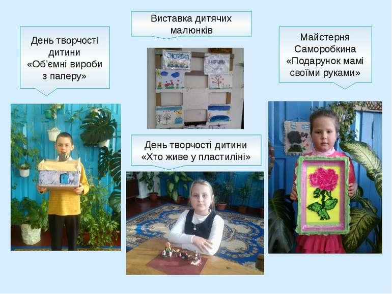 День творчості дитини «Об'ємні вироби з паперу» Майстерня Саморобкина «Подару...