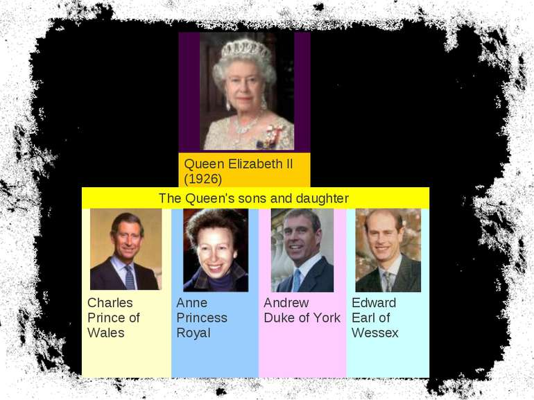 Queen Elizabeth II (1926) The Queen's sons and daughter Charles Prince of Wal...
