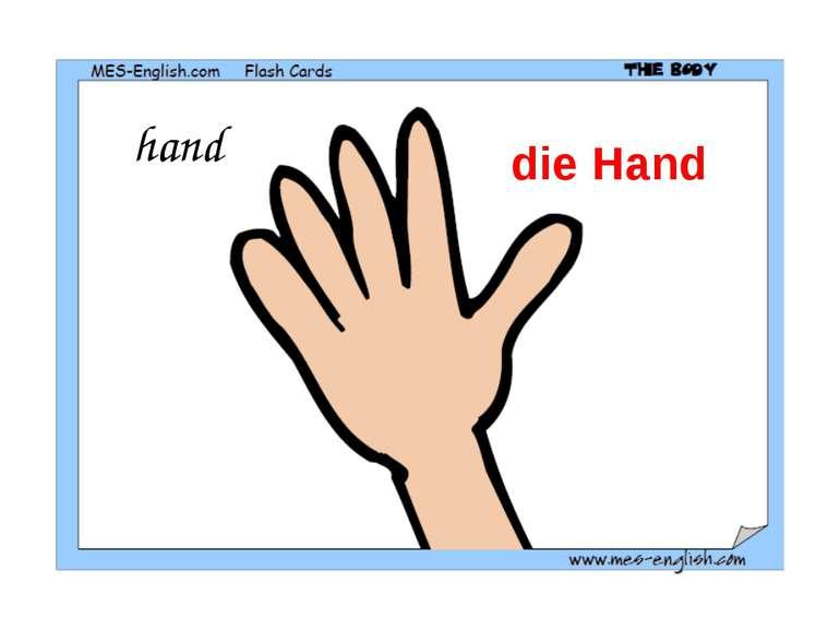 hand die Hand
