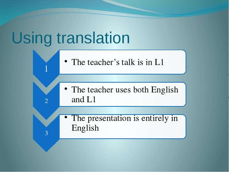 Using translation