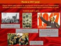 Росія в 1917 році Перша світова війна привела до загострення суперечностей в ...