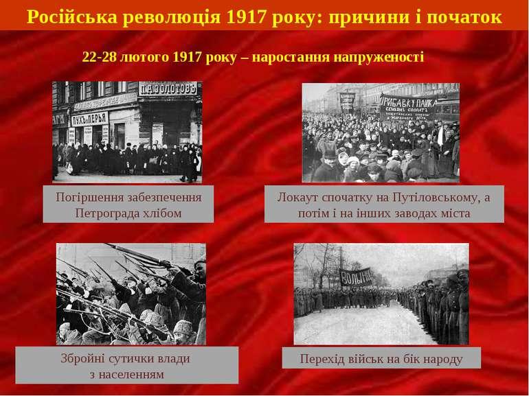 Російська революція 1917 року: причини і початок 22-28 лютого 1917 року – нар...